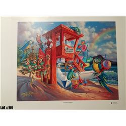 """""""Any Flavor Shave Ice"""" by Tom Thordarson, 38 of 250, Canvas Giclee, 24X19, $395 Retail, Signed and n"""