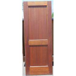 "Wooden Door - African Mahogany (some termite damage - see photos), 80"" x 30"""