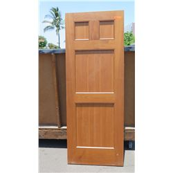 "Wooden Door - Teak (some termite damage - see photos), 80"" x 30"""