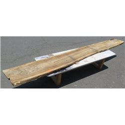 """Large Solid Wood Slab w/ Bark, Approx. 16"""" Wide"""