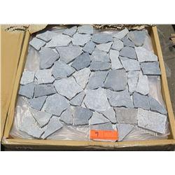 7 Cases Natural Stone/Pebble Tiles, Mesh Backing (5 per case)
