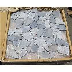 7 Cases Natural Stone/Pebble Tiles, Mesh Backing (5 per case)