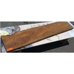 "Large Solid  Wood Slab, African Mahogany, Approx. 64 1/4"" L, 13 3/4"" W, 2"" Thick"