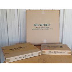 New Rev-A-Shelf Wood Cutlery Tray, Utility Tray, Kidney Wood Tray, 3pcs