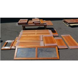 Large Lot of Wood Cabinetry Doors and Panels