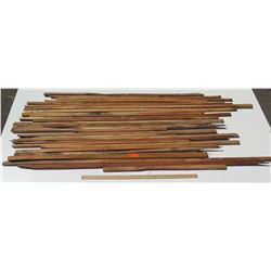 """Assorted Wood Bundle, Various Lengths, Approx 1""""x1"""" to 2"""" Thick"""