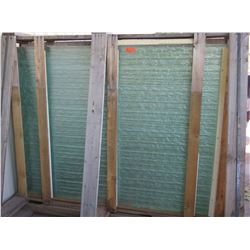 Large Textured Bamboo Motif Glass Panels (63X84), 30 Full-Size Panels, Retail $800 per sheet