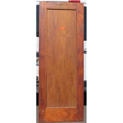 "Koa Wood Door 80"" x 30"" x 1 3/4"""