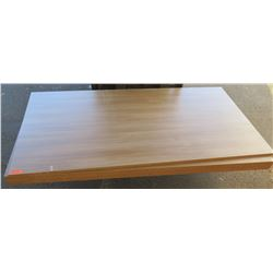 "Qty 5 Roman Walnut Melamine Plywood Sheets 3/4"" (4' x 8')"