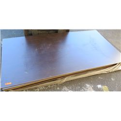 "Qty 14 Espresso Melamine Particle Sheets 1 1/8"" (49X97) $1900 Value"
