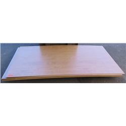 "Qty 7 Candlelight Melamine MDF Sheets 1/4"" (4X8)"