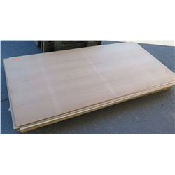 "Qty 9 Maple Melamine MDF Sheets 1/4"" (4X8)"