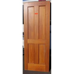 "4 Paneled Wood Door 80"" x 30"" x 1 3/4"""