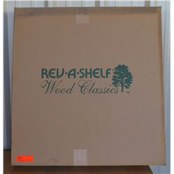 "Rev-A-Shelf 32"" Kidney-Shape Wood 2-Tray Set"