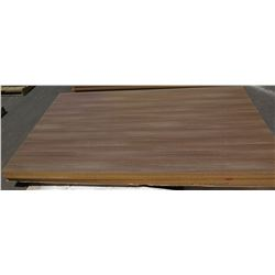 "Qty 5 Roman Walnut Melamine Particle Sheets 1 1/8"" (49X97)"