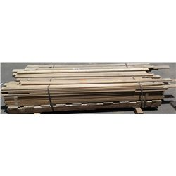 Pallet of 3/4  Tongue/Groove Solid Maple Wood Flooring, 96  x 3 1/4 , Approx. 116pcs