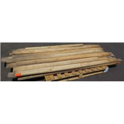 "Pallet of Natural Mango of 2x4s, Raw/Unsanded (longest pieces approx. 103"", most are 6"" w, 1 1/2"" Th"