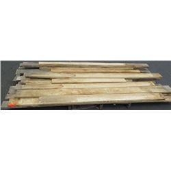 "Pallet of 2x4s, 2x6s Natural Wood, Various Lengths (longest pieces approx. 103"", most are 6"" w, 1 1/"