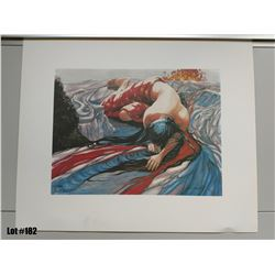 "Qty 2 ""Pele Moe"" by Janet Stewart, Paper Giclee, 24 X 20, Signed/Numbered (125 & 302 of 1800) $350 R"