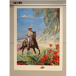 """Paniolo"" by Janet Stewart, Paper Giclee, 32 3/4 X 24, Signed/Numbered (AP 9 of 45)"