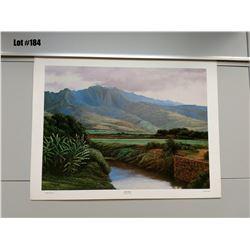 """Qty 2 """"Waialua Oahu"""" by Gary Reed, Paper, 25 X 19"""