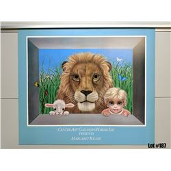 """Jungle Mischief"" by Margaret Keane, Paper Giclee, 28 X 24"