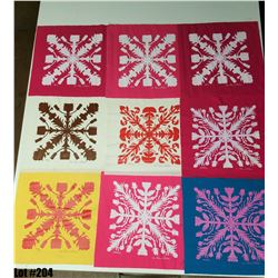 """Printed Quilt Patterns"" by The Olivia Collection, Fabric, 21 X 21 Squares"