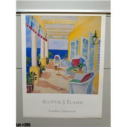 """""""Lanikai Afternoon"""" by Scottie J. Flamm, Paper, 19 X 25"""