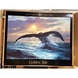 """""""Golden Tale"""" by Anthony Casay, Paper, 30 x 24"""