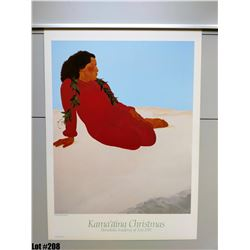 """Kamaaina Christmas"" by Pegge Hopper, Paper, 22 x 30 3/4"
