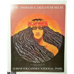 """""""Pele Goddess of Hawaii's Volcanoes"""" by Herb Kane, Paper, 20X16"""