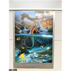 """""""Mermaid Dreams"""" by Wyland/Jim Warren, Paper, 18 X 26"""