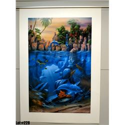 """""""The Lagoon"""" by David Miller, Off-Set Lithograph, 27 X 39, $375 Retail"""