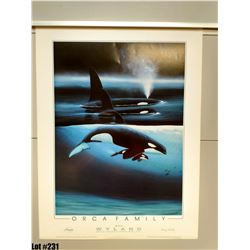 """""""Orca Family"""" by Wyland, Paper, 19 X 25 1/8"""