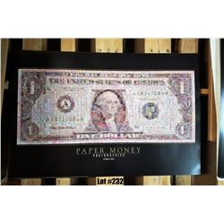 """""""Paper Money"""" by Robert Silvers, Paper, 36X24"""