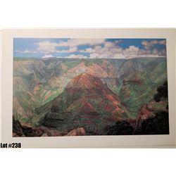 """Waimea Canyon"" by Gary Reed, Paper, 38 x 25-3/4"