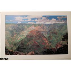 "Qty 5 ""Waimea Canyon"" by Gary Reed, Paper, 38 x 25-3/4"
