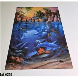 """""""The Lagoon"""" by David Miller, Off-Set Lithograph, Ltd. Ed. 38 of 250, 27 X 39, $375 Retail"""