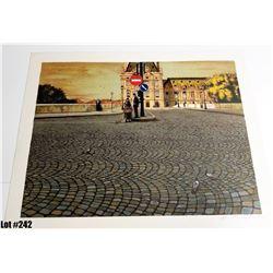"""European Street"" Artist Unknown, Off-Set Lithograph, Ltd. Ed. 208 of 225, 27 x 21-3/8, $200 Retail"