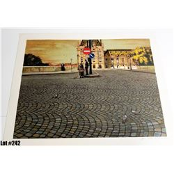 """European Street"" Artist Unknown, Off-Set Lithograph, Ltd. Ed. 208 of 225, 27 x 21-3/8, $200 Retail"