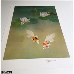 """Water Garden"" by David Lee, Off-Set Lithograph, Ltd. Ed. 160 of 200, 21 x 28, $150 Retail, Signed a"