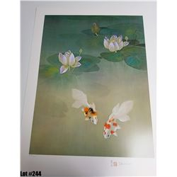 """Water Garden"" by David Lee, Off-Set Lithograph, Ltd. Ed. 161 of 200, 21 x 28, $150 Retail, Signed a"