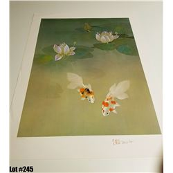 """Water Garden"" by David Lee, Off-Set Lithograph, Ltd. Ed. 163 of 200, 21 x 28, $150 Retail, Signed a"