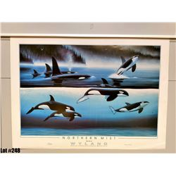 "Qty 2 ""Northwest Mist"" by Wyland, Paper, 34-1/2 x 25-1/4"