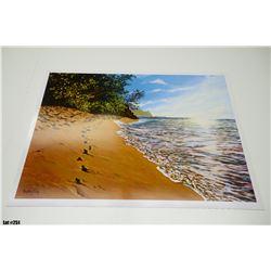 "Qty 5 ""Footprints"" by R. McCoy, Paper, 33-1/4 x 25-1/4"