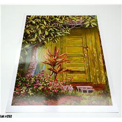 """Backdoor"" by R. McCoy, Paper, 25 x 32"
