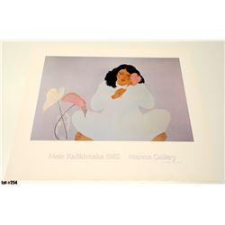 """Mele Kalikimaka 1982"" by Pegge Hopper, Paper, 27-3/4 x 23"