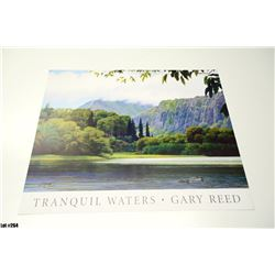 """""""Tranquil Waters"""" by Gary Reed, Paper, 26 x 19-1/2, Signed by artist."""