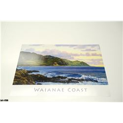 "Qty 2 ""Waianae Coast"" by Gary Reed, Paper, 25-1/4 x 17, Signed by artist"