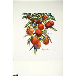 """Backyard Mango"" by Peggy Chun, Paper, 19 x 25"